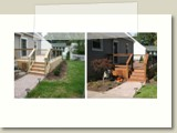 Deck Washed and Deck Stained in Cuyahoga Falls, Ohio